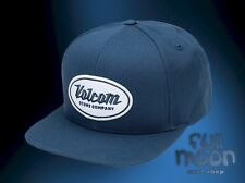 New Volcom Men's Cresticle Blue Logo Snapback Cap Hat