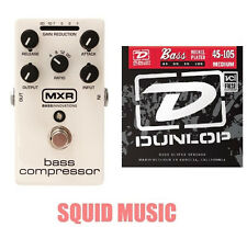 MXR Dunlop M87 Bass Compressor Bass Effects Pedal ( 1 SET OF BASS STRINGS) M-87