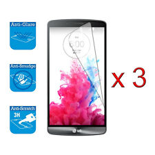 For LG G3 Screen Protector Cover Guard LCD Film Foil x 3