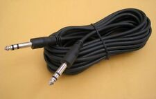 "15Ft 1/4"" 6.3mm Stereo TRS Male Guitar Amplifier Speaker PA Instrument Cable 15'"