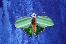 Moth, Leadlight, Suncatcher, handcrafted, Australia One Only