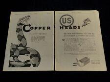 Vtg 1930 US Cartridge Copper Head Gun 22 Shell Bullet  Copperhead Snake Ad  Q162
