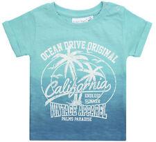 Baby Boys Dip Dye T Shirt Short Sleeve 100% Cotton Summer Top Holiday Beach Size