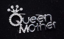 Glittering Crystal Rhinestones for Mom Queen Mother Crown Brooch with
