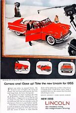 OLD VINTAGE ADVERT CLASSIC LINCOLN V8 AMERICAN MOTOR CAR c1955 FORD COLOUR