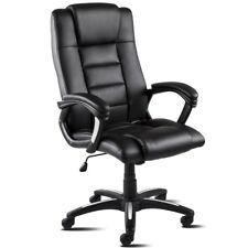 Silla de oficina ejecutivo silla direccion polipiel giratoria negro –McHaus