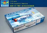TRUMPETER 1/32 02263  P47D Thunderbolt Bubbletop Fighter model kit ▲