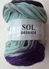 Lana Grossa Sol Dégradé 100g de luz Hilo algodón color 80 Púrpura ANTRACITA ROJO