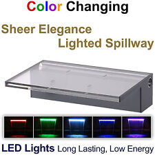 "Patriot Sheer Elegance Se12Cc Led Lighted Spillway - 12"" Spillway Color Changing"