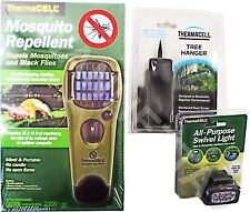 ThermaCELL Mosquito Repellent Unit with Swivel Light & Tree Hanger BUNDLE - NEW