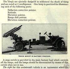 U.S.GUN ARTILLERY,ANTIAIRCRAFT & TRENCH MORTAR HANDBOOK WW1 RARE 1921 EDITION