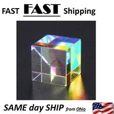 Optical Glass Dichroic Cube Prism RGB Combiner Splitter Teaching Tool Weird