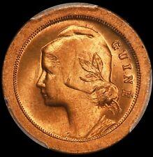 1933 Guinea-Bissau 5 Centavos Bronze Coin - PCGS MS 66 RD - KM# 1 - TOP POP