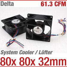 Sistema CARCASA CAJA Enfriador Ventilador Delta efb0812ehf 80x80x32mm 12v 5200