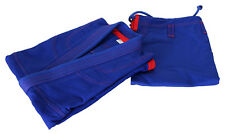 Mens Brazilian Jiu Jitsu Gi - Blue/Red 100% Cotton Preshrunk, Free Belt & Rope