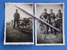 Foto 2x Wehrmacht Dienstfahrrad Gewehrhalterung K 98