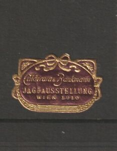 Austrian Poster Stamp Vienna 1910 Hunting (very small)