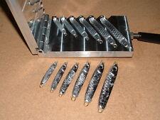 Saltwater Wobble Eel Jig mold 3/4,1,1.5,2,3,4oz CNC Aluminum Herring