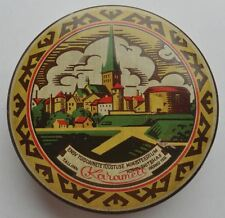 1940s USSR Russia Soviet Estonia THE OLD TALLINN Sweets Tin Box GREAT CONDITION