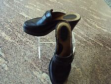 BORN  LEATHER WOMEN'S MULE SHOES, BLACK,SIZE 8 US,HEEL HEIGHT 3