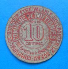 WW1 Belgique Mouscron Dottignies 10 centimes 1916