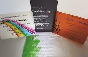 Acrylic Wedding Invitations- white and clear range, sample only