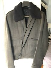 Kooples Wool bomber Jacket With shearling collar Size L