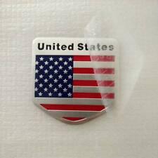 1pc Metal American Flag Emblem Badge Sticker Car Door Fenders Tailgate Decor