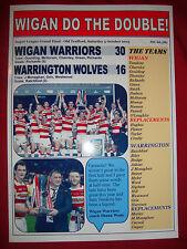 Wigan Warriors 30 Warrington Wolves 16 - 2013 gran final-Souvenir de impresión