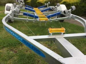 Precision Boat Trailer Drive On Galvanised 5.6mt suit 18ft boat, led
