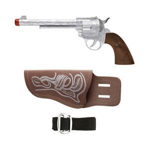Cowboygürtel und Colt Western Spielzeugpistole Spielzeugrevolver Pistolenholster