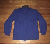 Duluth Trading Co. Nylon Fleece Lined Blue Zip Coat Jacket Men's Sz Large Tall