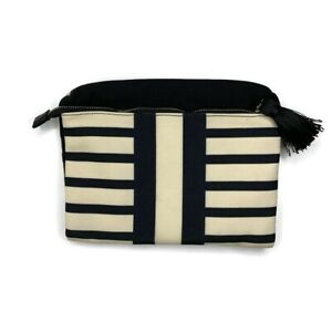 """Summer & Rose Women's Striped Fold Over Magnetic Clutch 15' x 10.5"""""""