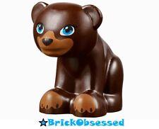 LEGO Dark Brown Bear Cub Baby Sitting Friends / Elves Animal Minifig 41324 41121