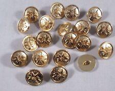 Metall  Knopf Knöpfe 20 stück Gold Edelweiß    12,5 mm     #181#