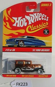 Hot wheels Classics Series 3 32 Ford Delivery Gold  #12/30 FNQHotwheels FK223