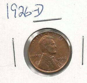1926-D Lincoln Cent : BU  Lots of Red