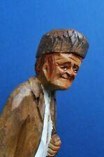Vintage Quebec Wood Carving - Signed Caron