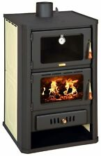 Wood Burning Stove Oven Boiler Cooker Water Jacket Colored Sides 20kw Prity