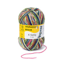 Regia 4-fädig Color 100g Sockenwolle Farbe 09386 Tropical