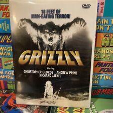 Grizzly DVD 1976 AKA Killer Grizzly CULT HORROR Andrew Prine HTF WHITE Case!
