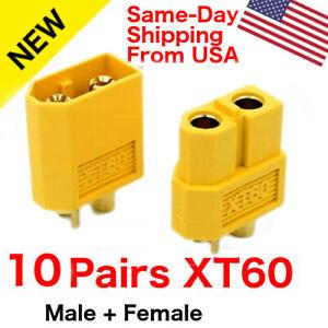 5 Pairs XT-60 Male Female Connectors
