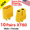 10 pairs AMASS XT60 XT-60 Male Female Gold Plated Bullet Connectors RC Lipo Plug