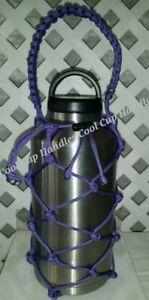 Paracord Bottle Carrier for Yeti Ozark & Rtic 64oz, 36oz Bottle Purple