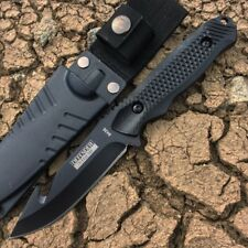 "8"" Defender Xtreme Gut Hook Hunting Knife with Sheath Black"
