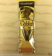 "Cablz Sunglasses Glasses Holder Adjustable Eyewear Holder 12"" Black XL ZipZ."