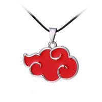 Naruto Juwel Schmuck Halskette Anhänger Akatsu Symbol Logo Rote Wolke