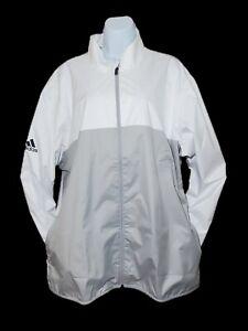 NWT ADIDAS CLIMASTORM PROVISIONAL RAIN GOLF JACKET SIZE X-LARGE White & Gray