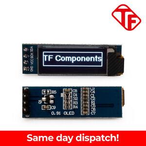 "IIC I2C 0.91"" Inch 128x32 White OLED Display SSD1306 ideal for Arduino / PI"