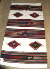"Throw Rug Tapestry Southwestern Thick Hand Woven Wool 32x64"" 128 BE"